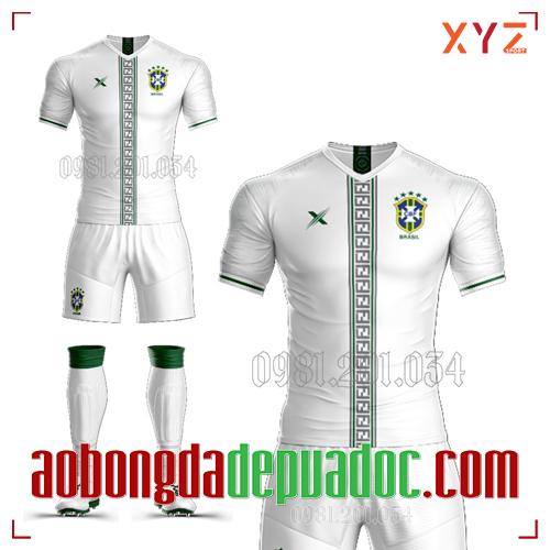 Áo Đội Tuyển Brazil Tự Thiết Kế Mã BRA-01 Đẹp Và Độc