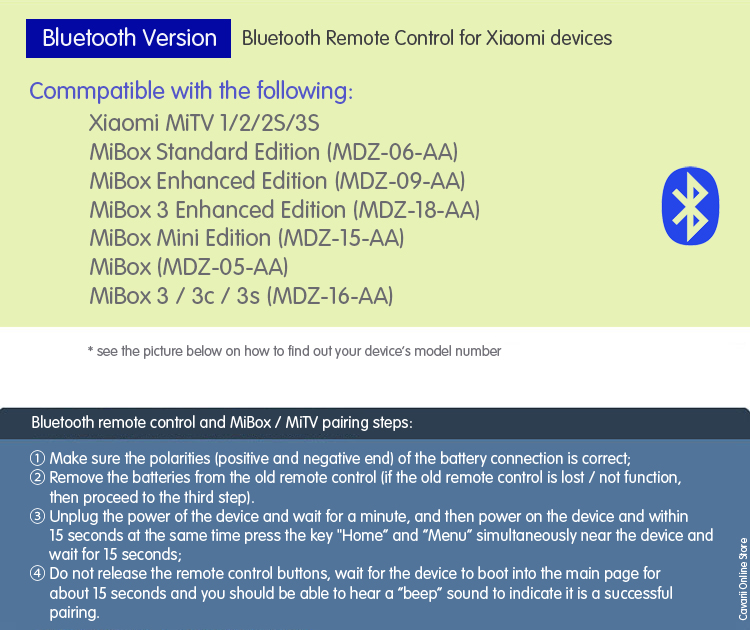 Xiaomi Bluetooth Remote control - Pairing and sync ~ Ask About It At