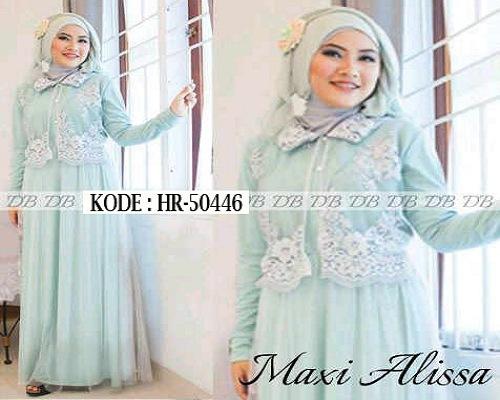 Model baju brokat terbaru muslim terusan kombinasi batik ...
