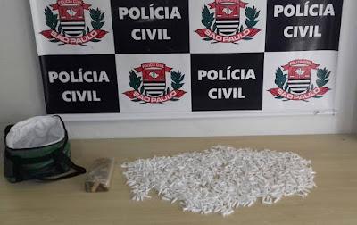 POLÍCIA CIVIL DE REGISTRO-SP PRENDE TRAFICANTE COM DROGAS NA VILA NOVA