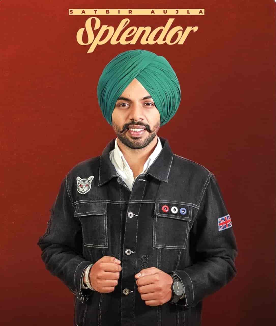 Splendor Punjabi Song Image Features Satbir Aujla