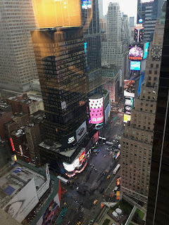 David brodosi's view of Time Square from hotel room