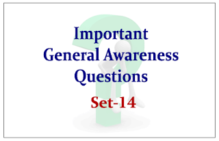 List of Important General Awareness Questions