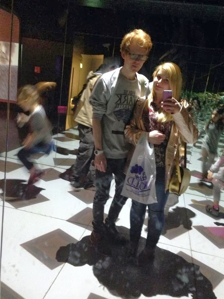 A mirror selfie inside Cadbury world