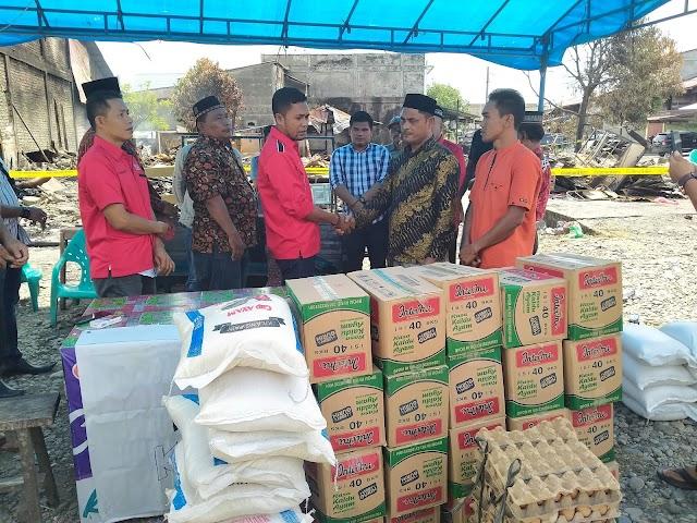 DPW PA Aceh Selatan Serahkan Bantuan Korban Kebakaran Desa Kede Runding
