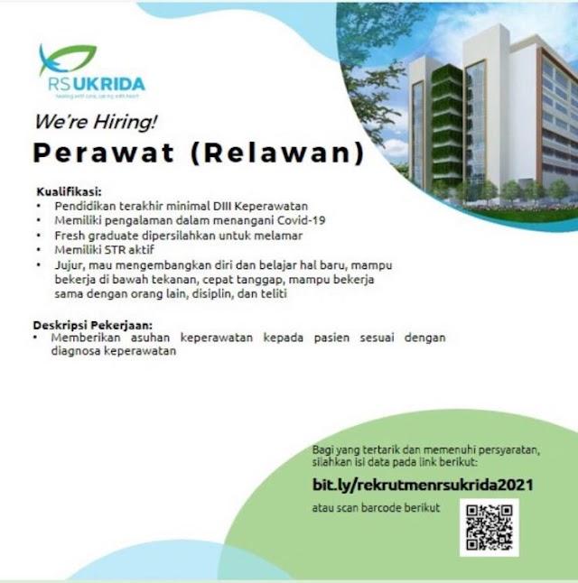 Loker Perawat (Relawan) RS UKRIDA Jakarta Barat