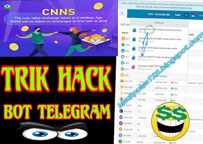 Trik Hack CoinNess Mod Dengan Bot Telegram Bonus 10.000 CNNS Setara 50 USDT Gratis 2019