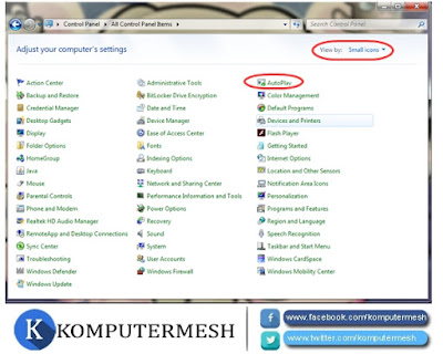 Cara Mematikan Autorun (Autoplay) Flashdisk Windows 7