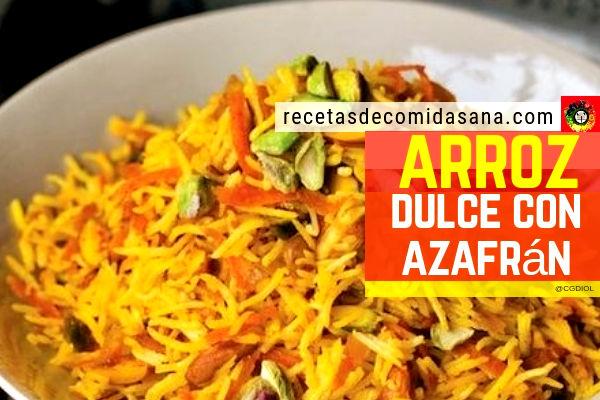 Receta de arroz dulce con azafrán con pistachos y anacardos en comida sana