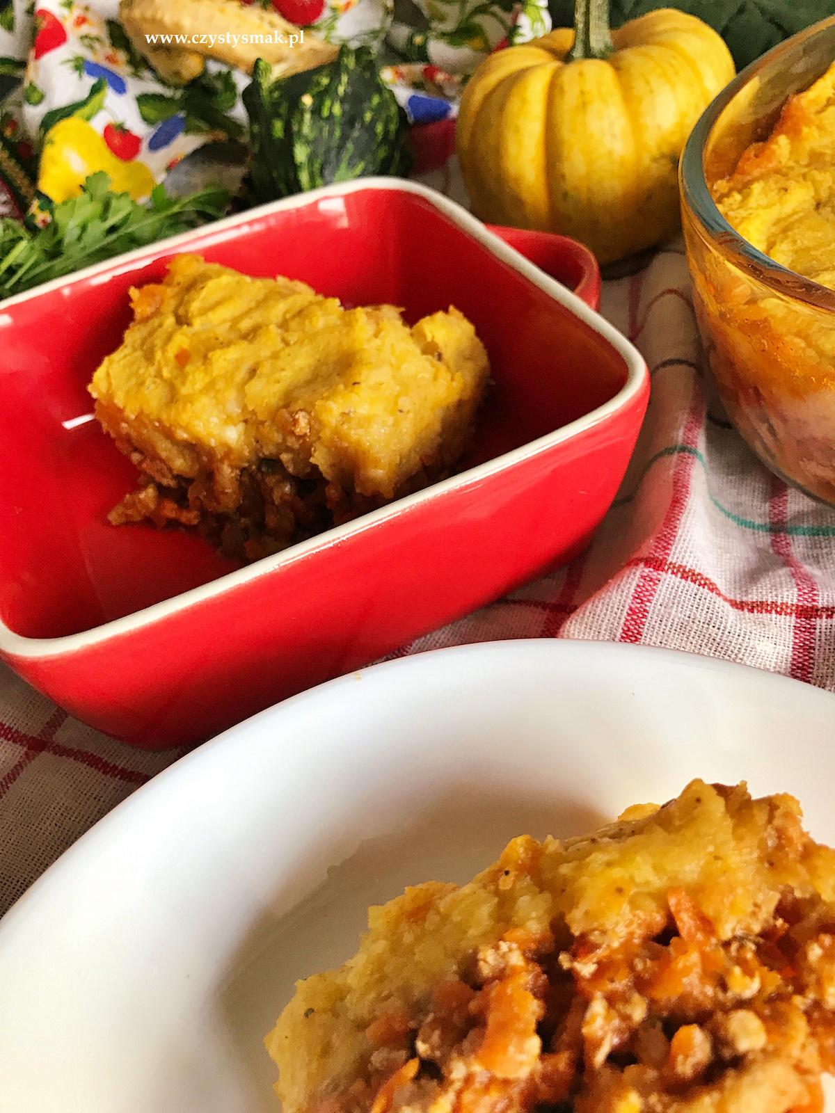 Dyniowa zapiekanka shepherd's pie