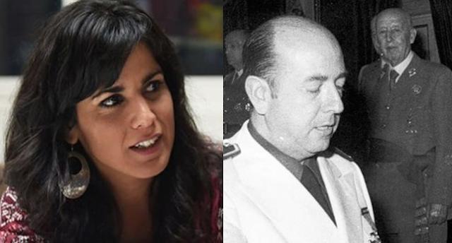 Teresa Rodríguez condenada a pagar 5000 euros a la familia de un ministro franquista