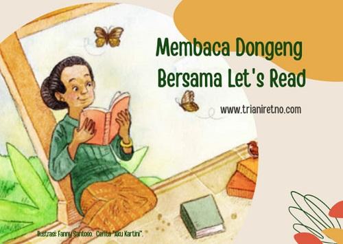 Membaca dongeng bersama Let's Read