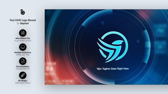 Videohive - Fast HUD Logo Reveal - 28756475