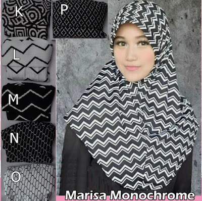 Grosir Jilbab Marisa Monochrome