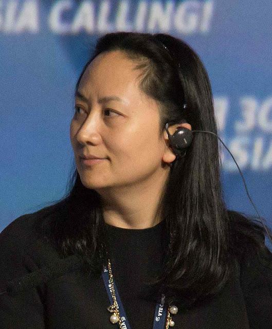 Meng Wanzhou, vice-presidente e filha do fundador de Huawei foi presa no Canadá. Mas pagou fiança de 7 milhões de dólares.