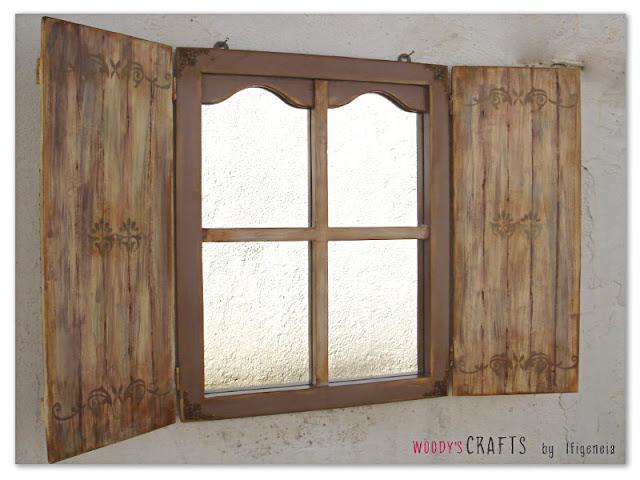 ξυλινα χειροποιητα διακοσμητικα,διακοσμηση τοιχου,εσωτερικη διακοσμηση τοιχου,χειροποιητος καθρεφτης-παραθυρο,ξυλινος καθρεφτης σε μορφη παραθυρου