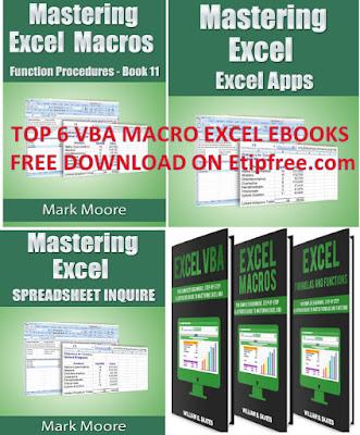 TOP 6 EBOOK VBA MACRO EXCEL FREE DOWNLOAD ON EVBA.INFO AND ETIPFREE.COM 2020