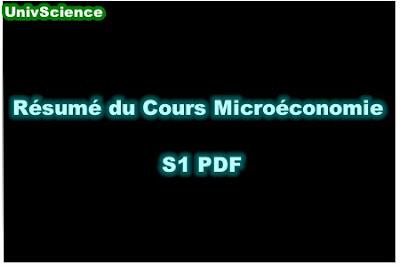 Résumé Du Cours Microéconomie S1 PDF.