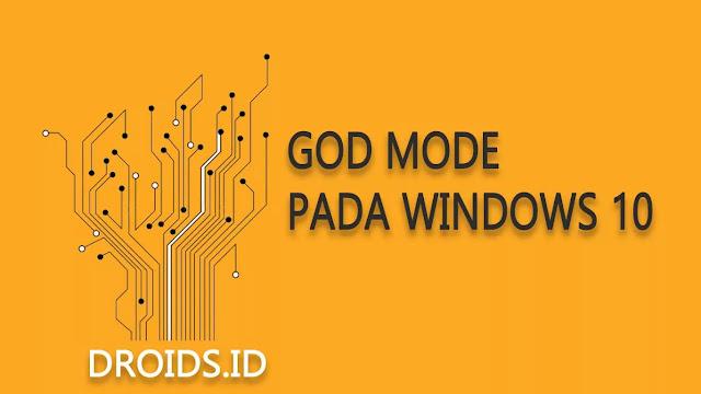 Membuat Pintasan God Mode pada Window 10