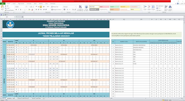 Aplikasi Jadwal Pelajaran Anti Bentrok Tingkat SMA/SMK Tahun 2020
