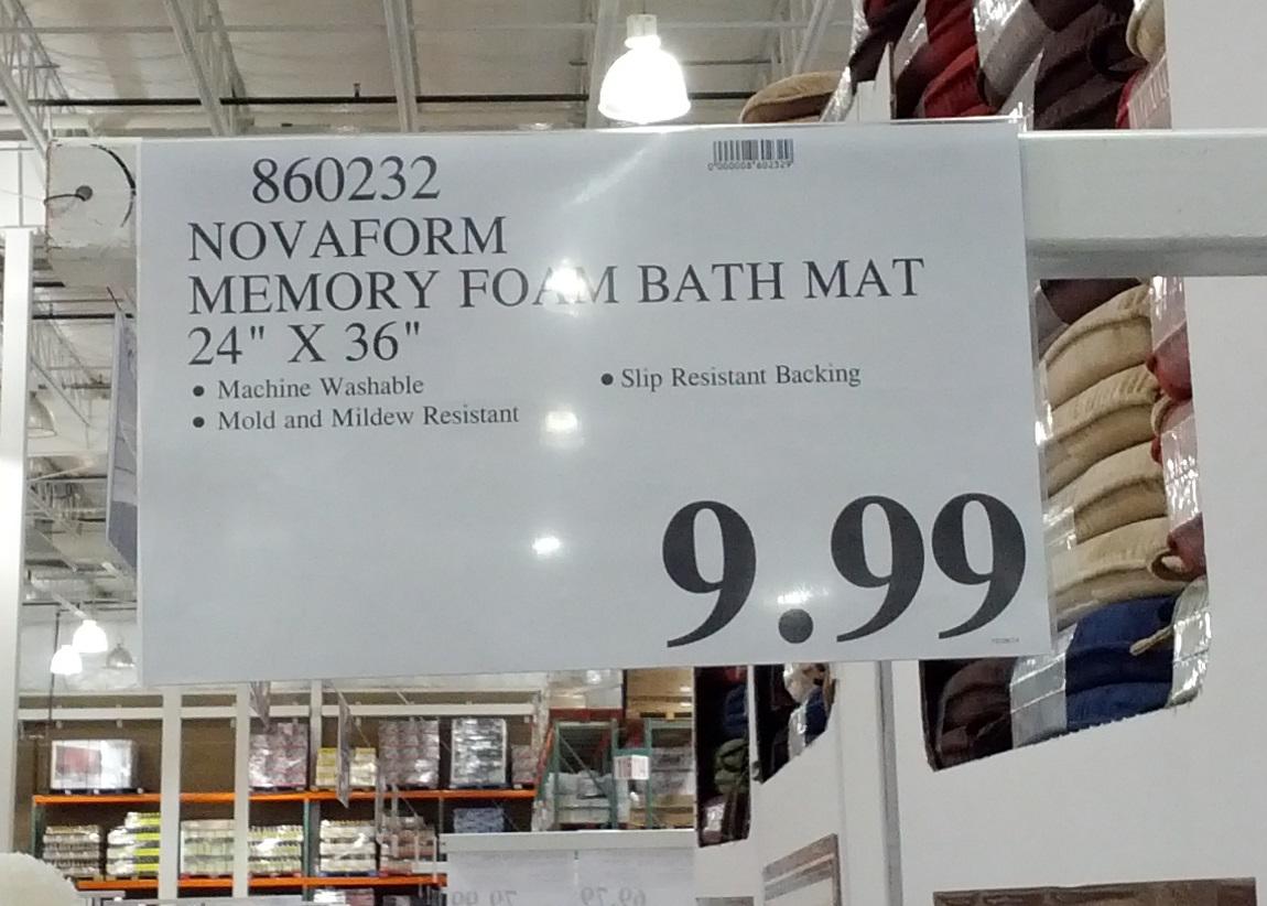 Novaform Memory Foam Bath Mat Are And Affordable At Costco Item No 860232