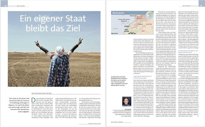 الصحافة الألمانية تسلط الضوء على نزاع الصحراء الغربية ومعاناة اللاجئين الصحراويين.