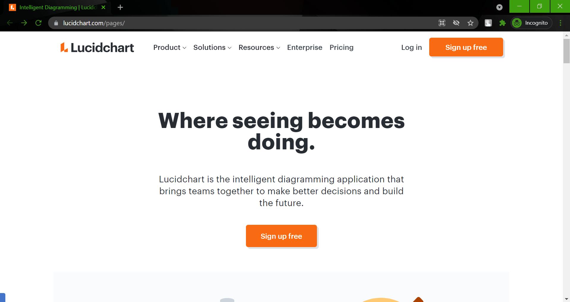 Hidden websites - lucidchart.com