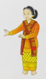 tarian tarian tradisional sumatera utara kartun atau lukisan