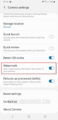 Cara Menggunakan Shot on Samsung dengan Watermark