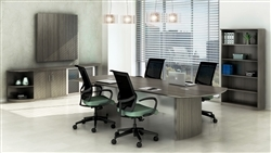 10 ft conference table with power