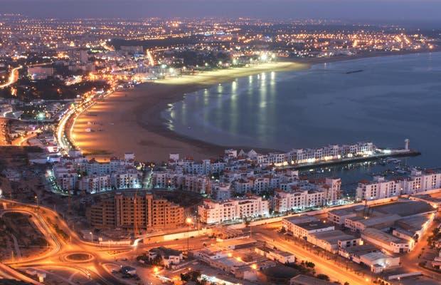 شاطئ أكادير بمدينة اكادير plage agadir