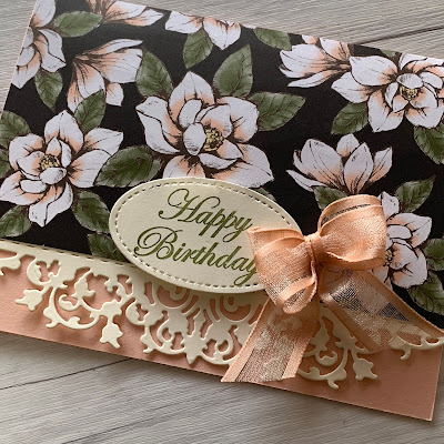 Card using Stampin' Up! Magnolia Lane Designer Series Paper