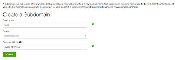 How to Create Subdomain