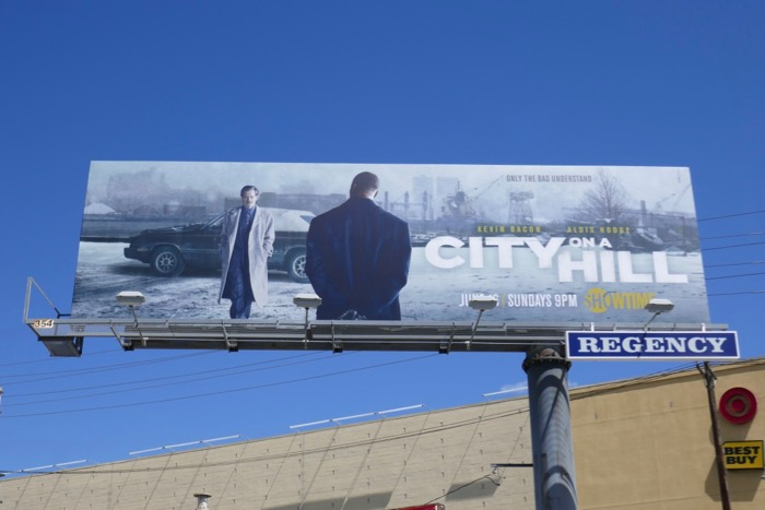City on a Hill series launch billboard