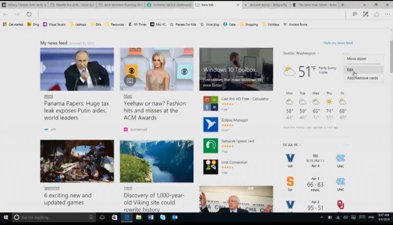 Le novità in arrivo su Microsoft Edge HTNovo 1