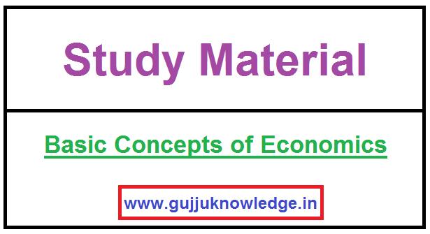 Basic Concepts of Economics