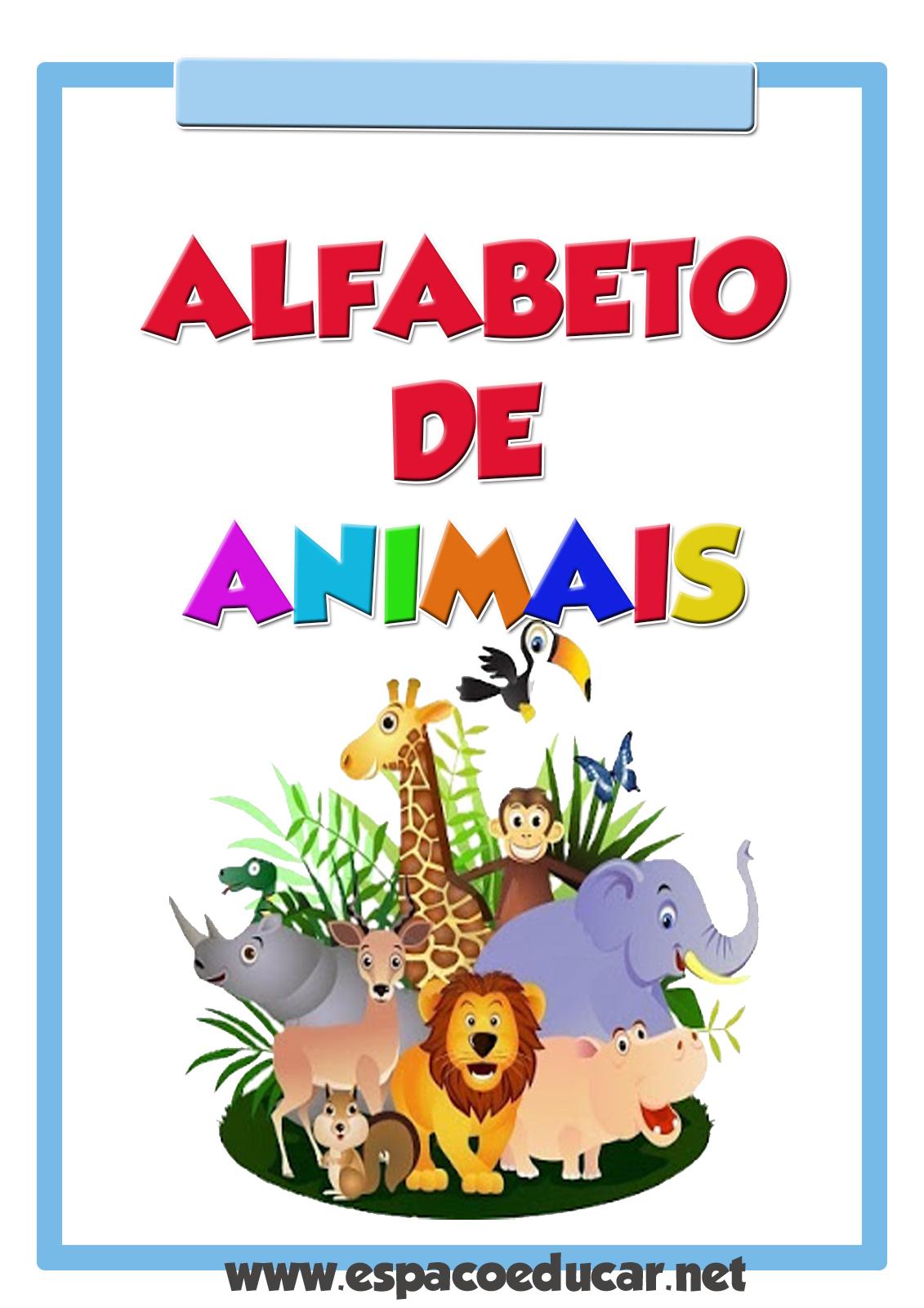 Cartazes Alfabeto De Animais Colorido Gratis Para Voce Imprimir
