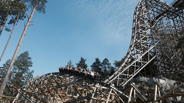 Photo of Wildfire Roller Coaster at Kolmarden Zoo in Sweden