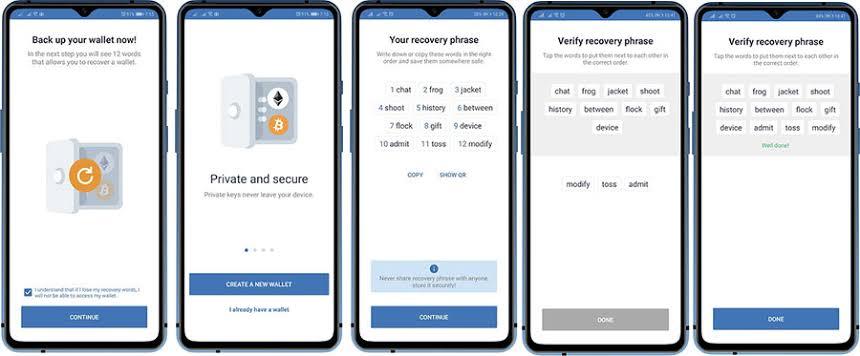 Create a Trust wallet account tutorial