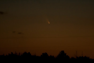 comet panstarrs above the horizon march 13