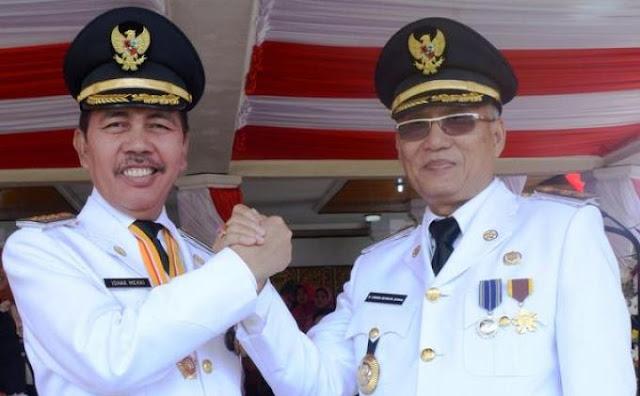 Ishak Mekki dan Engga Dewata Zainal (Bupati dan Wakil Bupati OKI 2009 - 2014) Daftar Bupati OKI dan Wakil Bupati OKI
