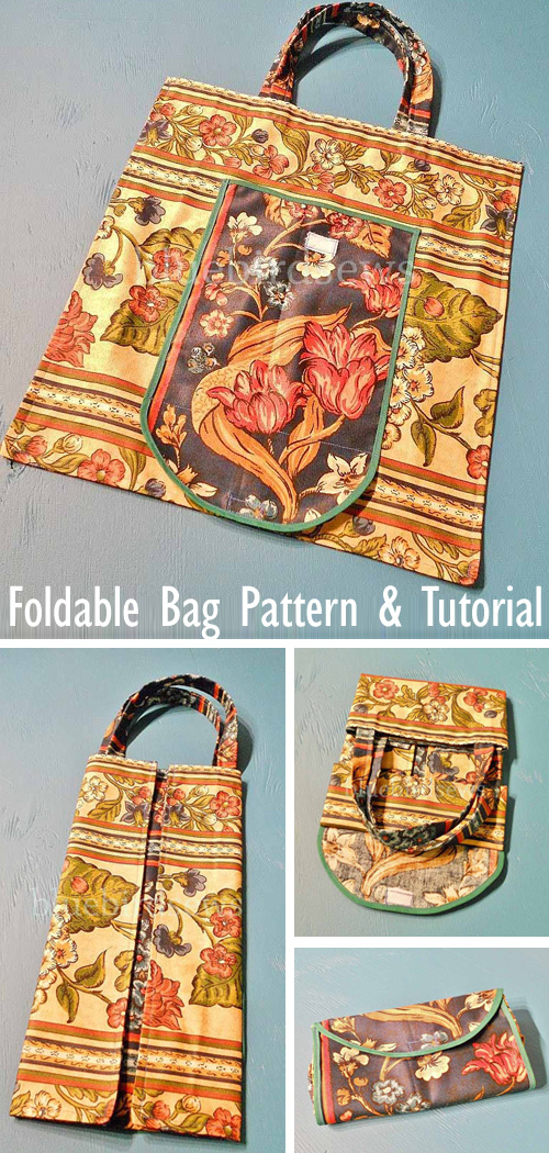 Fold-Up Eco-Bag Tutorial + Pattern