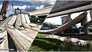 Jematan Projek Pan Borneo ari Permyjaya nuju ke Airport Miri runtuh