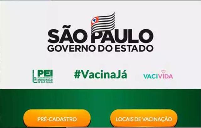 Site Vacina Já contabiliza 1 milhão pré-cadastros em dois dias