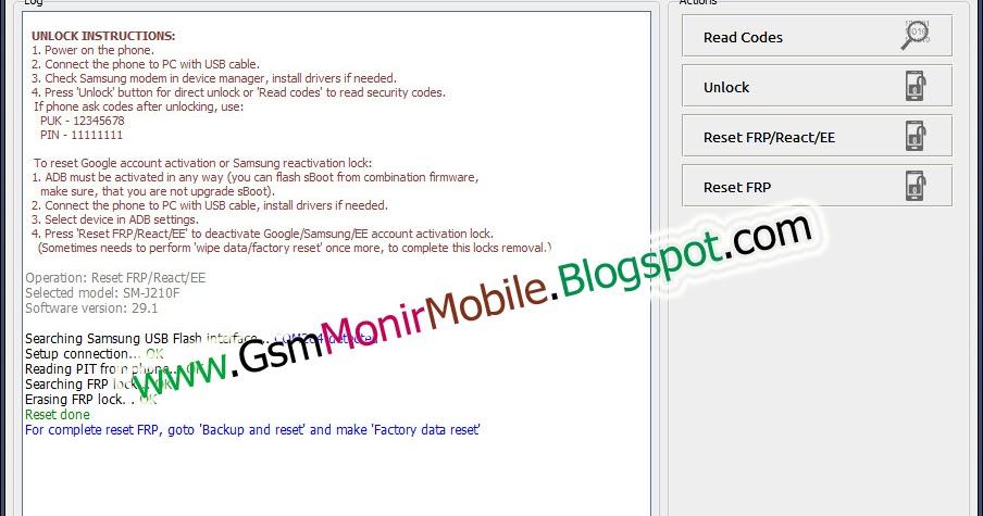 Samsung Galaxy J2 J210F FRP Lock Remove Z3X Pro Done - Gsm