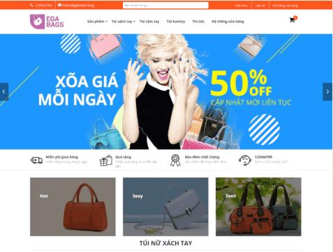Giao diện Blogspot bán hàng thời trang túi xách