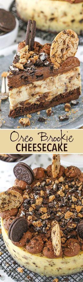 Oreo Brookie Cheesecake
