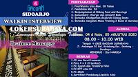 Walk In Interview di Mie Gacoan Surabaya Agustus 2020