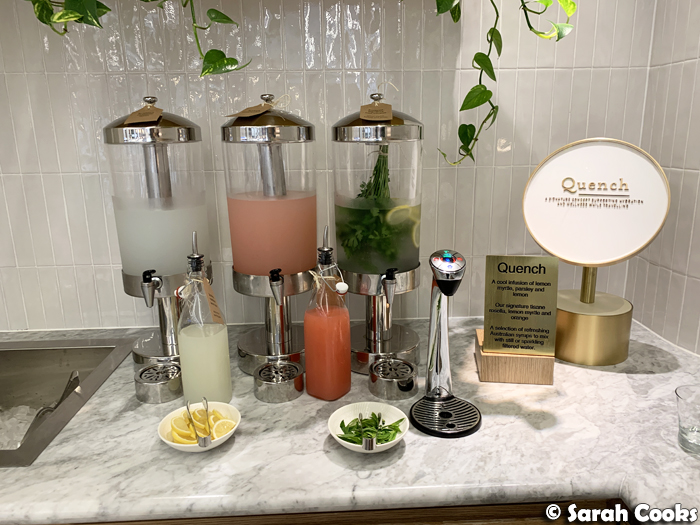 Qantas Perth International Transit Lounge - Quench hydration station