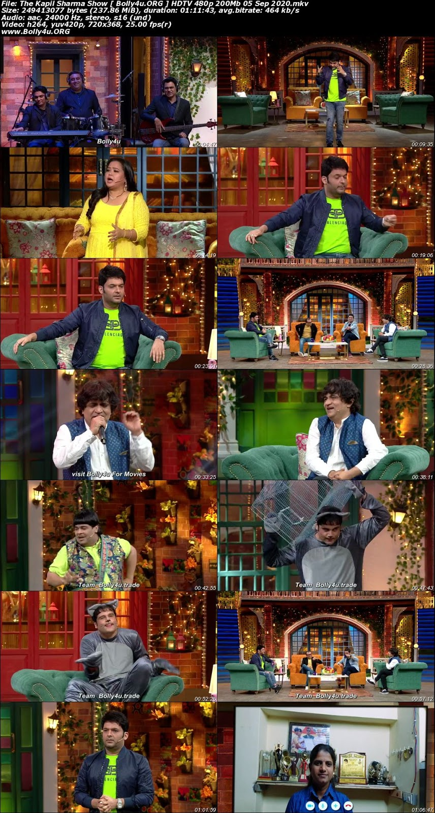 The Kapil Sharma Show HDTV 480p 200MB 05 September 2020 Download